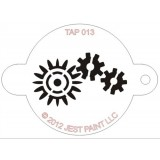 TAP Face Painting Stencils #13 - Robotic Gears