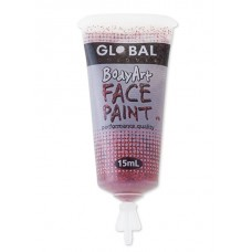 Bodyart Glitter Paint - Red 15ml