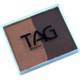 TAG Brown & Mid Brown Split Cake 50g