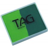 TAG Light Green & Mid Green Split Cake 50g
