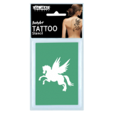 Global Temporary Tattoo Stencil Number 18 Pegasus