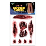 Wolfe FX Temporary Tattoos - Cuts & Wounds